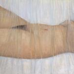 © Benoit Moreau - nu couché - Huile sur toile 2006 - 50 x 116 cm