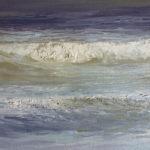 © Benoît Moreau - Vague n°1813 - huile sur toile - 22 x 27 cm – 2013 - Collection particulière