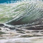 2016-vague1516 - huile sur toile - -50x150cm