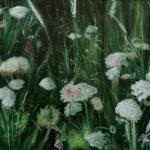 © Benoît Moreau - Dans l'herbe (carottes sauvages) - Huile sur toile - 81x100 cm - 2017 collection particulière