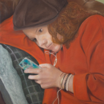 © Benoît Moreau -kwa t pa sur snapchat !? - Huile sur toile - 100 x 73 cm - 2018