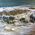 © Benoît Moreau - 2018-vague N°4118-huile sur toile -22x27cm