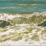 © Benoît Moreau - Vague n°81018 - huile sur toile - 22 x 27 cm – 2018 - collection particulière - France