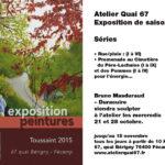 Novembre 2013 : Exposition du tableau illustrant la couverture du premier ouvrage de la Maison d'Éditions Vents et Marées à Dieppe - Villa Perrotte