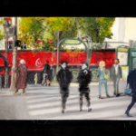 © bmo - Antoine Doisnel de retour Place de Clichy - 27 x 50 cm