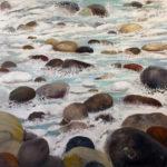 © Benoît Moreau - Cailloux - huile sur toile - 100 x 100 cm- 2018