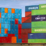 BMO - containers - Huile sur toile - 100 x 300 cm - 2014