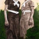 © BMO -Deux Soeurs - Huile sur toile - 135x70 cm