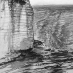 © Benoît Moreau - La roche aux anglais - encre sur papier - 35x40 cm 2007