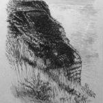 © Benoît Moreau - Pointe du Chicard - encre sur papier - 35x40 cm 2007