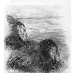 © Benoît Moreau - Pointe du Chicard- encre sur papier - 35x40 cm 2007