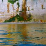 © Benoît Moreau - Paréidolie N°16 (falaise-reflet III) - huile sur toile - 130x100 cm- 2021