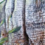 © Benoît Moreau - falaises n°1 - huile sur bois - 44 x 54 cm