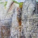 © Benoît Moreau - falaises n°2 - huile sur bois - 44 x 54 cm