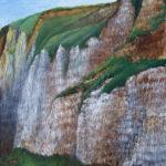 © Benoît Moreau - falaises n°3 - huile sur bois - 44 x 54 cm