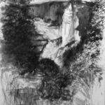 © Benoît Moreau - Yport - encre sur papier - 35x40 cm 2007