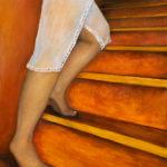 BMO -L'escalier - 2005 - - Huile sur toile - 65x54 cm