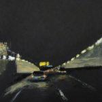 © Benoît Moreau - Routes/nuit/ - gouache sur papier - 42 x 29 cm - 2012 - collection particulière