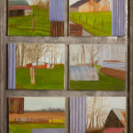 © Benoît Moreau - Pays de Caux (tôles) - Huile sur toile - Encadrement en zinc - 6 x 22 x 27 cm - 2006