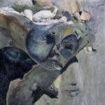 © Benoît Moreau - Paréidolie N°13 - huile sur toile - 42x42 cm- 2021