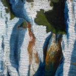 © Benoît Moreau - Paréidolie N°14 - huile sur toile - 70x40 cm- 2021