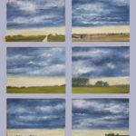 © Benoît Moreau - Pays de Caux (série N° 9- aube) - - Huile sur toile - 6 x 22 x 27 cm – 2007