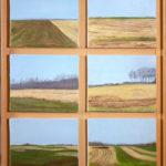 © Benoît Moreau - Pays de Caux (série n°2 - jaune) - Huile sur toile - 6 x 22 x 27 cm - 2006