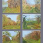 © Benoît Moreau - Pays de Caux (série n°4 - automne) - Huile sur toile - 6 x 22 x 27 cm - 2006 (collection particulière/France)