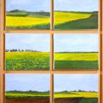© Benoît Moreau - Pays de Caux (série -colza) - Huile sur toile - 6 x 22 x 27 cm - 2006