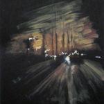 © Benoît Moreau - Routes/nuit/ville 2 - gouachesur papier - 42 x 29 cm - 2012