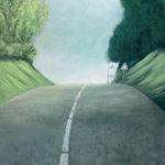 © Benoît Moreau - Route/jour - 230 x 90 cm - Huile sur toile – 2017