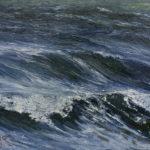 © Benoît Moreau - Vague n°5513 - huile sur toile - 22 x 27 cm – 2013 - Collection particulière