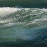 © Benoît Moreau - Vague n° 10813 - huile sur toile - 22 x 27 cm – 2013- Collection particulière