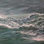 © Benoît Moreau - Vague n°182201113 - huile sur toile - 22 x 27 cm – 2013- Collection particulière