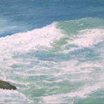 © Benoît Moreau - Vague n°319 - huile sur toile - 22 x 27 cm – 2009 - Collection particulière