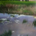 © Benoît Moreau - 2020 -r Mare en automne-100 x 80 cm - huile sur toile