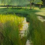 © Benoît Moreau - 2020 - Mare au printemps -100 x 80 cm - huile sur toile