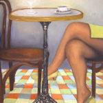BMO - au café - 2005 - Huile sur toile - 61 x 46 cm - collection particulière - France