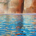 © Benoît Moreau - Paréidolie N°15 (falaise-reflet II) - huile sur toile - 100x65 cm- 2021