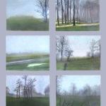 © Benoît Moreau - Pays de Caux (série n°3 - brumes) - Huile sur toile - 6 x 22 x 27 cm - 2006 (collection particulière France)