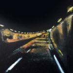 © Benoît Moreau - Routes/nuit - gouachesur papier - 42 x 29 cm - 2012 collection particulière