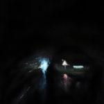 © Benoît Moreau - Route/nuit/Granville 3 -huile sur papier - 30 x 42 cm - 2014