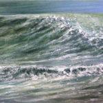 vague n° 18161216 - Huile sur toile - 22 x 27 cm - 2016 - collection particulière/France