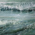 © Benoît Moreau - Vague n°38169 - huile sur toile - 22 x 27 cm – 2019 - collection particulière - France