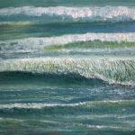 © Benoît Moreau - Vague n°1918- huile sur toile - 22 x 27 cm – collection particulière France
