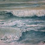 © Benoît Moreau- Vague 2019 - huile sur toile - 22 x 27 cm - collection particulière