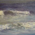 © Benoît Moreau - Vague n°38113 - huile sur toile - 22 x 27 cm – 2013 - Collection particulière