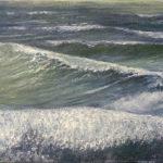 BMO vague 42013 - Huile sur tpoile - 22 x 27 cm - collection particulière