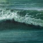 © Benoît Moreau - Vague n°51119 - huile sur toile - 22 x 27 cm – 2019 - collection particulière