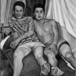 © Benoît Moreau - Les gars 1957 - 116 x 73 cm - Huile sur toile - 2016